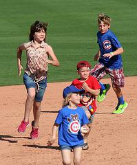 Kids Running The Bases at Hohokam Stadium (0733)