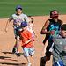Kids Running The Bases at Hohokam Stadium (0850)