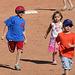 Kids Running The Bases at Hohokam Stadium (0854)