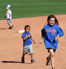 Kids Running The Bases at Hohokam Stadium (0755)