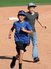 Kids Running The Bases at Hohokam Stadium (0822)