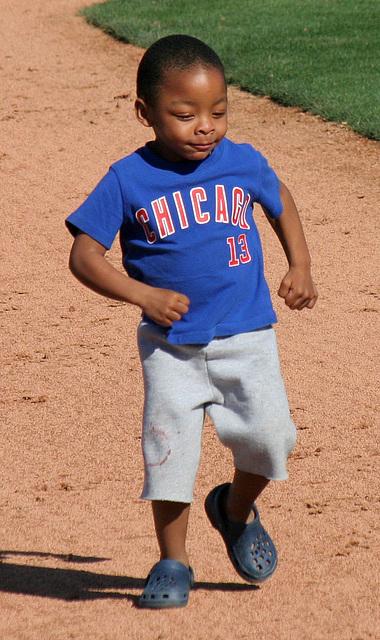 Kids Running The Bases at Hohokam Stadium (0758)