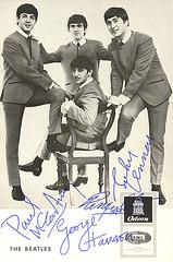 Beatles Autogrammkarte