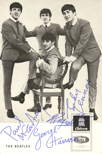 Beatles Autogrammkarte