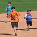 Kids Running The Bases at Hohokam Stadium (0796)