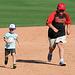Kids Running The Bases at Hohokam Stadium (0869)
