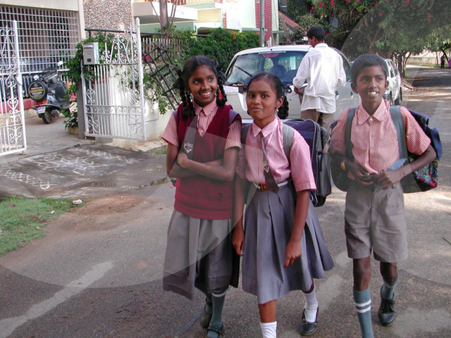 school kids in uniform