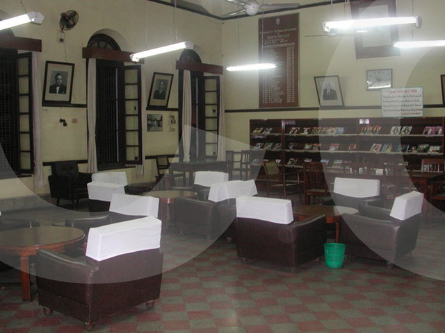 reading room in the Bangalore club