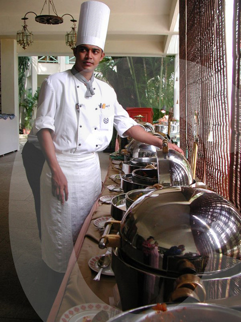chef near his dishes