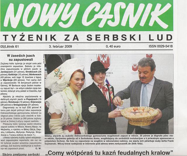 Nowy Casnik - soraba gazeto en Germanio!