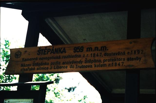 Stepanka Sign, Stepanka, Liberecky Kraj, Bohemia(CZ), 2007