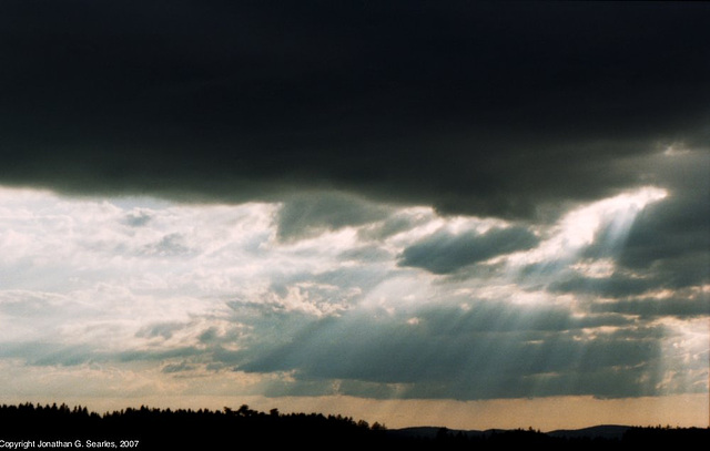 Sunset Over Liberecky Kraj, Picture 2, Bohemia(CZ), 2007