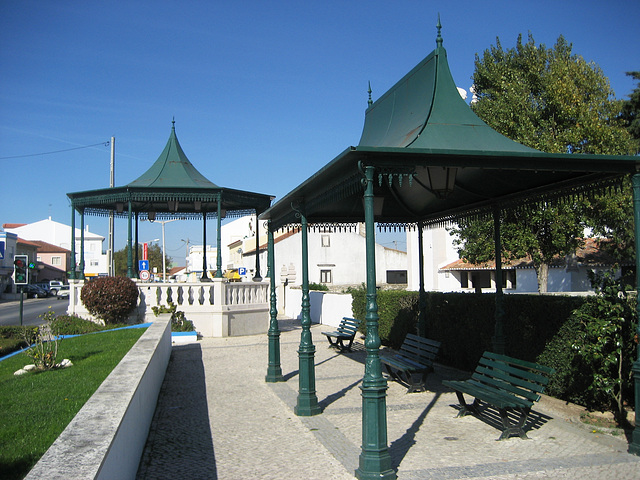 Terrugem, the bandstand awaits the feast's band
