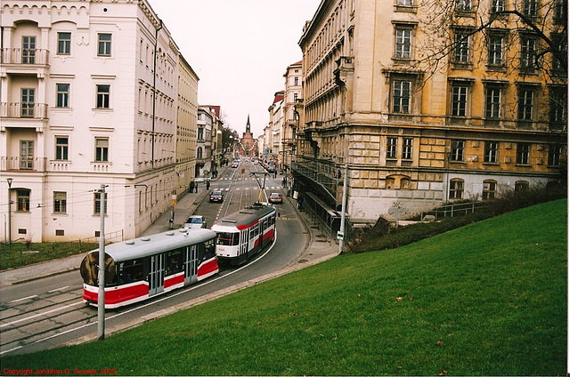 Brno Tram #1560 On Husova, Moravia(CZ), 2005