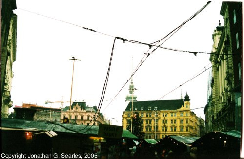 Christmas Market In The Evening, Brno, Moravia(CZ), 2005