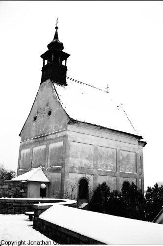 Chapel, Bratislavsky Hrad, Picture 2, B&W Version, Bratislava, Slovakia, 2005