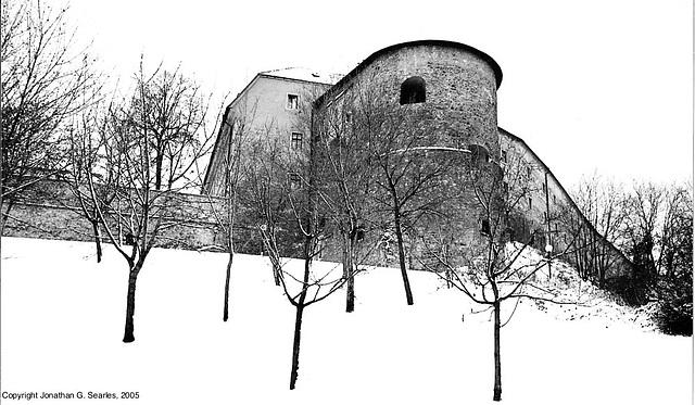 Bratislavsky Hrad, Picture 5, B&W Version, Bratislava, Slovakia, 2005