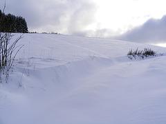 Schneewehe im Weg