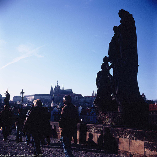 People On Karluv Most, Prague, CZ, 2007
