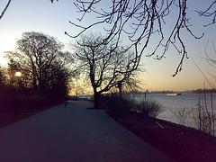 An der Elbe bei Hamburg, 07:51 h
