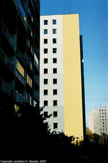 Sun on Buildings, Sidliste Haje, Prague, CZ, 2007