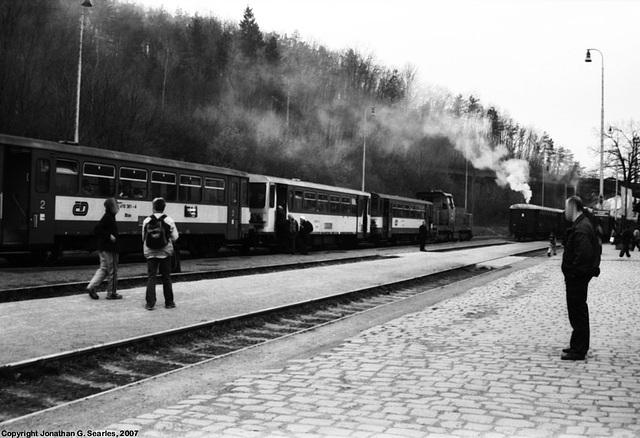 Local Train At Nadrazi Branik, Prague, CZ, 2007