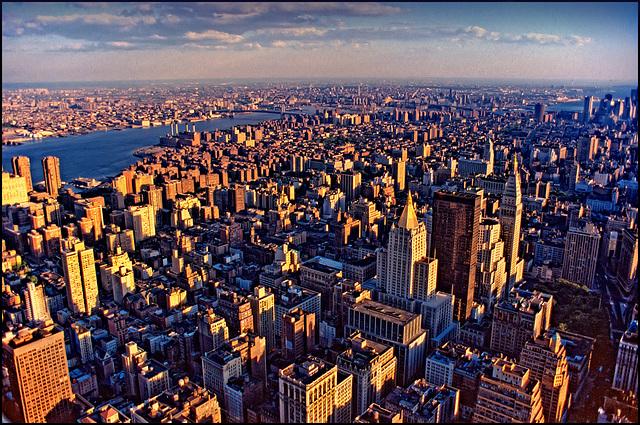 metropolis sunset light