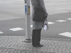 Aladin Swedish blond Lady in hammer heeled boots /  Blonde Suédoise en bottes à talons marteaux - Helsingborg / Suède.  22 Octobre 2008