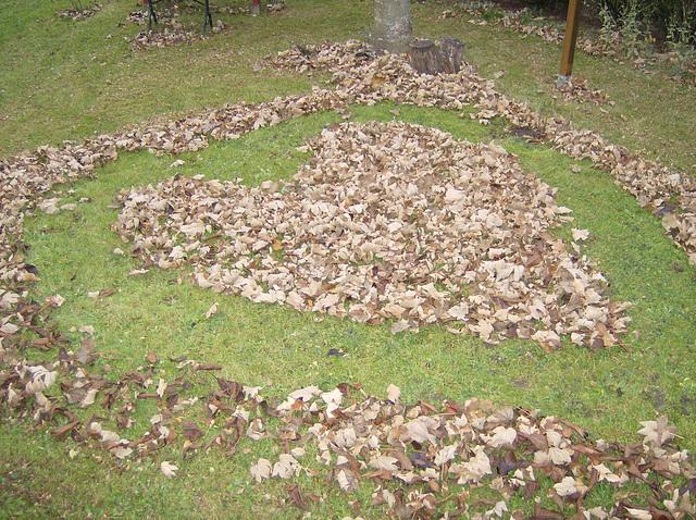 Mandala en feuilles