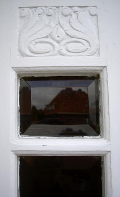 Detail des Einganstürenflügels