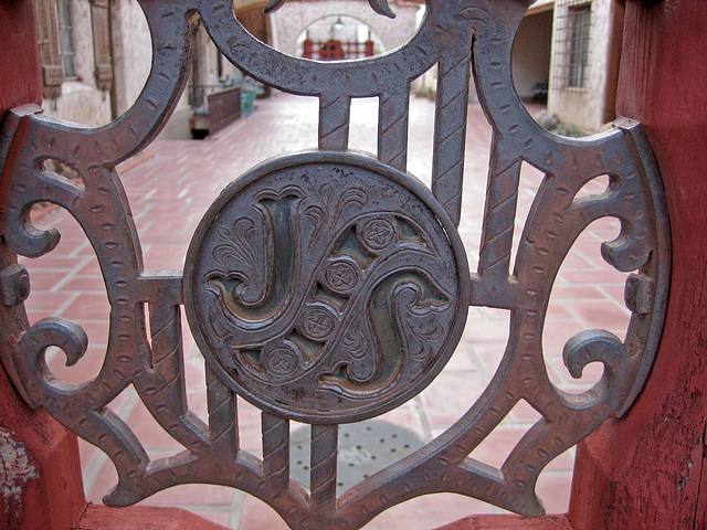 Grillwork Gate at Scotty's Castle (8703)