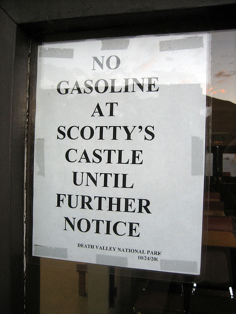No Gas At Scotty's Castle (8727)