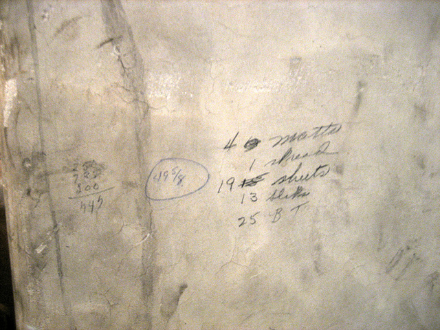Notations near the boiler (8708)