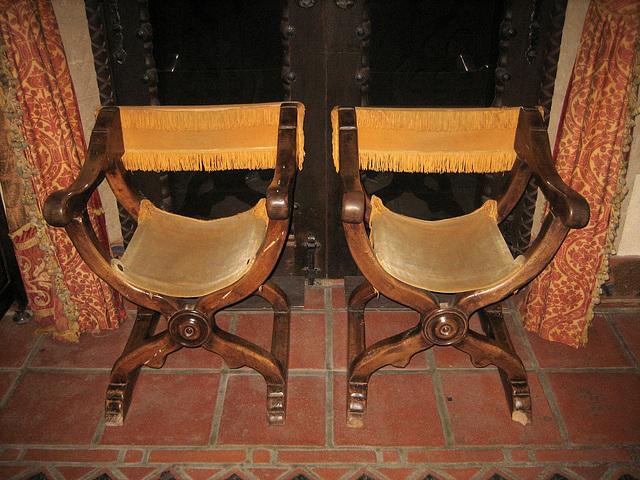 Savonarola Chairs at Scotty's Castle (8759)