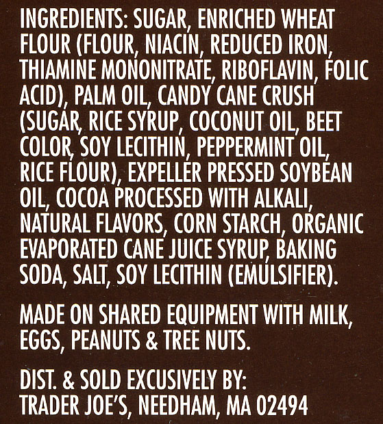 Candy Cane Joe-Joe's Ingredients