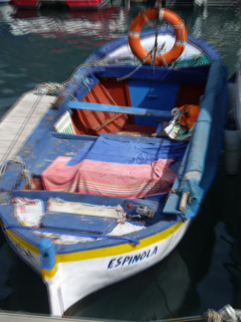 Fischerboot im Hafen von Los Gigantes