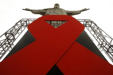 Red Ribbon On Christ The Redeemer