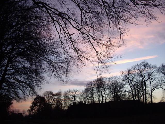 Sonnenuntergang bei Rheine Mesum