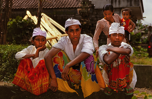People in their traditional dress on Bali