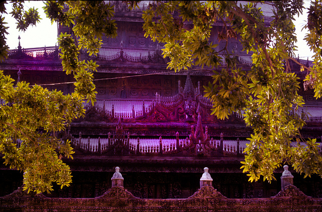 Shwe Nandaw Kyaung Temple in Mandalay, Burma