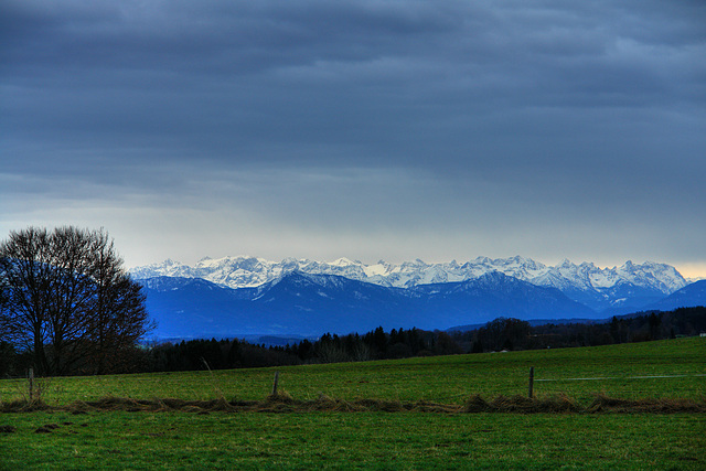 Icking/Walchstadt - View on the Alps