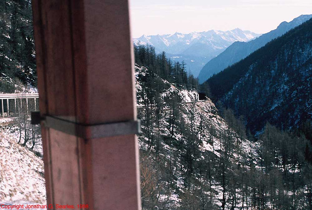 Swiss Railway Snow Shed, Switzerland, 1998