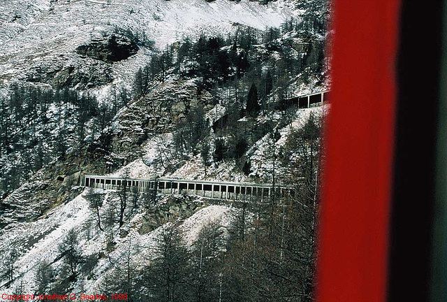 Swiss Railway Snow Shed, Picture 2, Switzerland, 1998