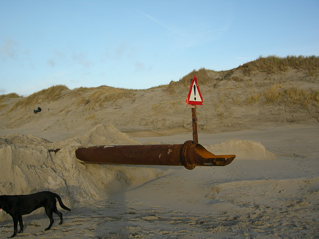Sandaufspülung