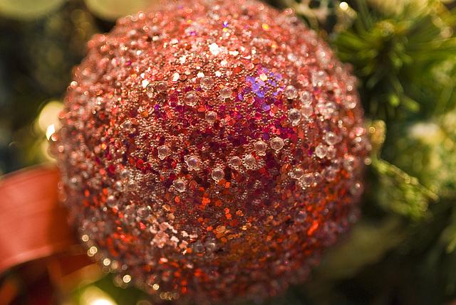 Sugared Christmas tree ball