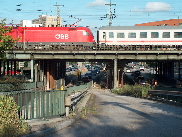 Train on a Brigde in Hamburg
