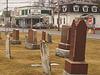 Cimetière et église / Church and cemetery - Bar Ormstown