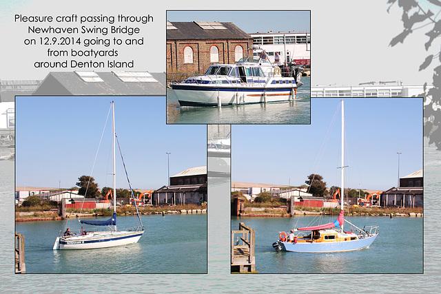 Craft passing through Newhaven Swing Bridge - 12.9.2014