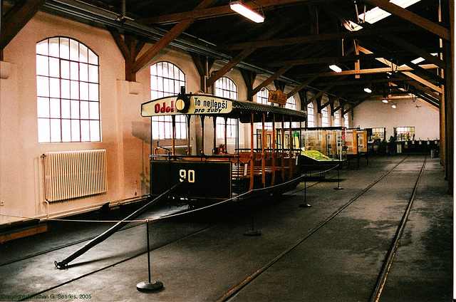 DPP #90, Prague Public Transport Museum, Stresovice, Prague, CZ, 2005