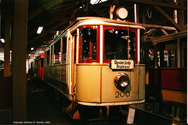 DPP #200, Prague Public Transport Museum, Stresovice, Prague, CZ, 2005